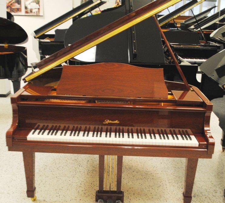 Ritmuller baby grand piano mahogany polish jim laabs for Baby grand piano height