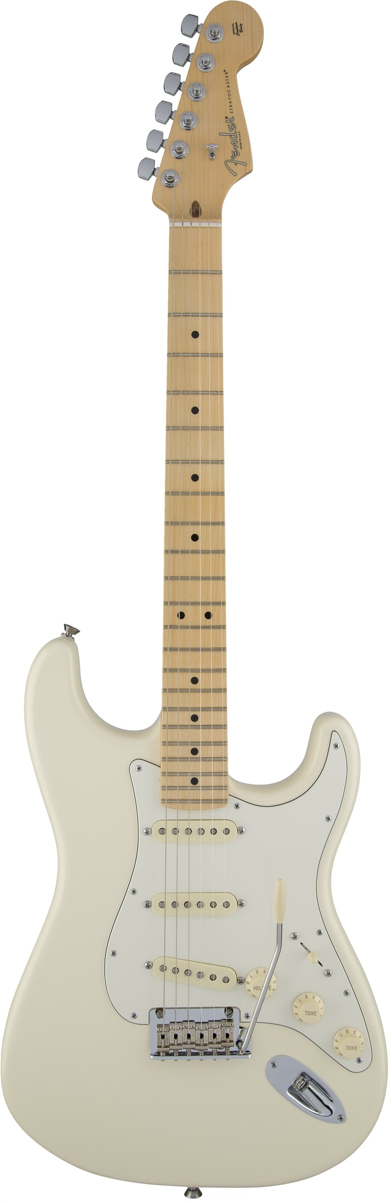 Fender American Standard Stratocaster ® Olympic White Maple Fingerboard Electric Guitar