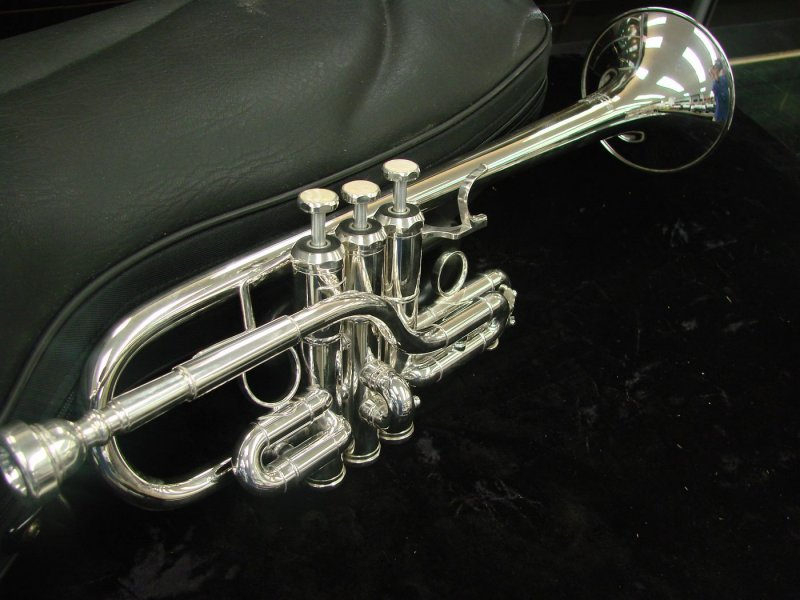 Schiller D/Eb Trumpet-Silver Plated-Floor Model