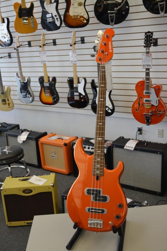 Yamaha Model BB414 Bass Metalflake Orange