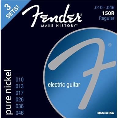 FENDER® ORIGINAL PURE NICKEL 150 GUITAR STRINGS - .010-.046 - 3-PACK