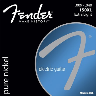 Fender ORIGINAL PURE NICKEL 150 GUITAR STRINGS - .009-.040
