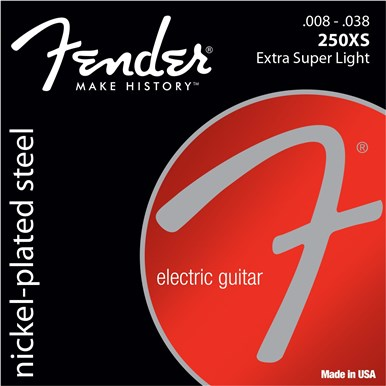 FENDER SUPER 250'S NICKEL-PLATED STEEL STRINGS - .008-.038