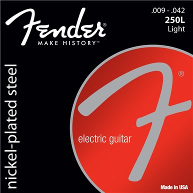 FENDER SUPER 250'S NICKEL-PLATED STEEL STRINGS - .009-.042
