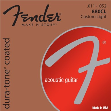 Fender 80/20 COATED ACOUSTIC GUITAR STRINGS - .011-.052