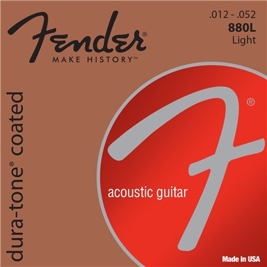 Fender 80/20 COATED ACOUSTIC GUITAR STRINGS - .012-.052