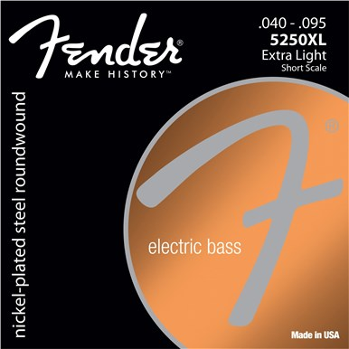 Fender® 5250 SHORT SCALE BASS STRINGS - .040-.095 - Extra Light
