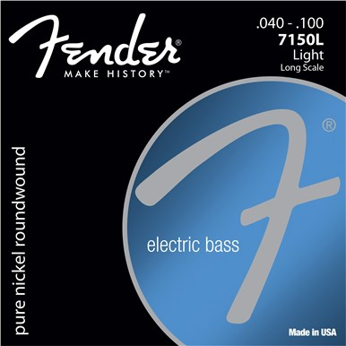 Fender 7150 PURE NICKEL BASS STRINGS - .040-.100