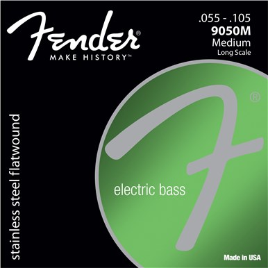 Fender 9050 STAINLESS FLATWOUND BASS STRINGS - .055-.105 - Medium
