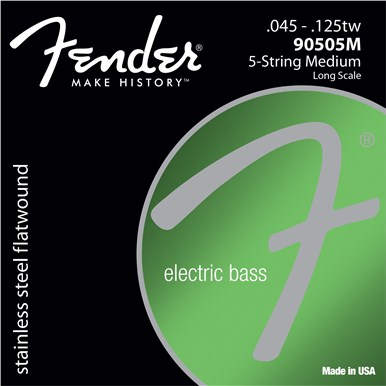 Fender 9050 STAINLESS FLATWOUND BASS STRINGS (5-STRING) - .045-.125