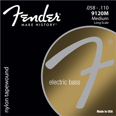Fender 9120 NYLON TAPEWOUND BASS STRINGS - .058-.110