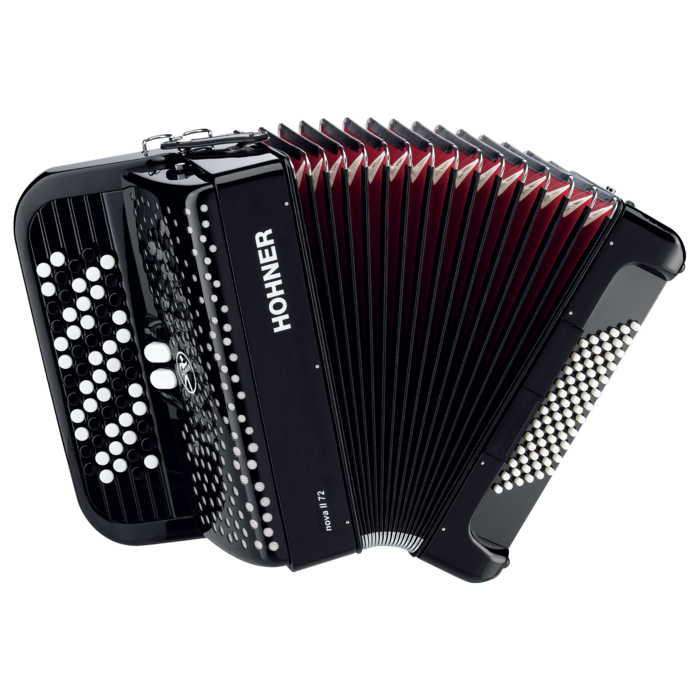 Hohner Nova 72 Black B stepped