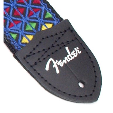 Fender® Eric Johnson Signature Guitar Strap - Blue with Multi-Color Pattern