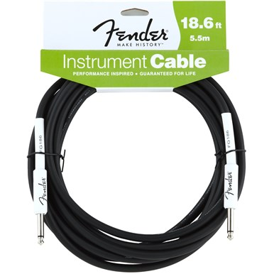FENDER® 18.6 ft PERFORMANCE SERIES INSTRUMENT CABLE (STRAIGHT-STRAIGHT)