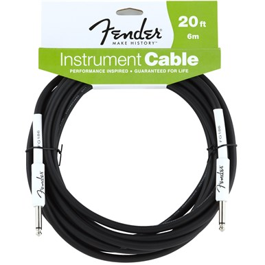 FENDER® 20 ft PERFORMANCE SERIES INSTRUMENT CABLE (STRAIGHT-STRAIGHT)