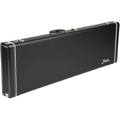 FENDER® PRO SERIES BASS CASE - BLACK WITH BLACK PLUSH INTERIOR