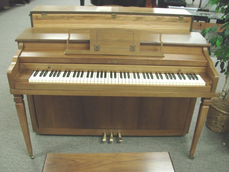 Cable Console Piano - Walnut Satin