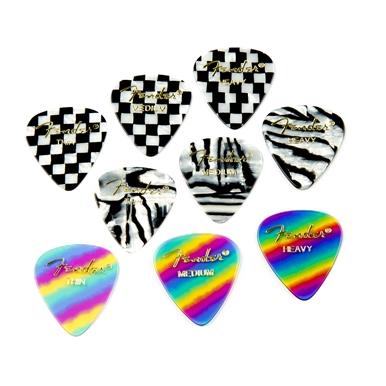 FENDER® 351 SHAPE GRAPHIC PICKS (12 PER PACK) - Heavy - Rainbow