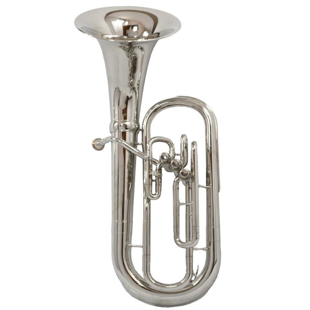 Schiller American Heritage 3-Valve Sousa Baritone - Forward Bell Nickel Plated