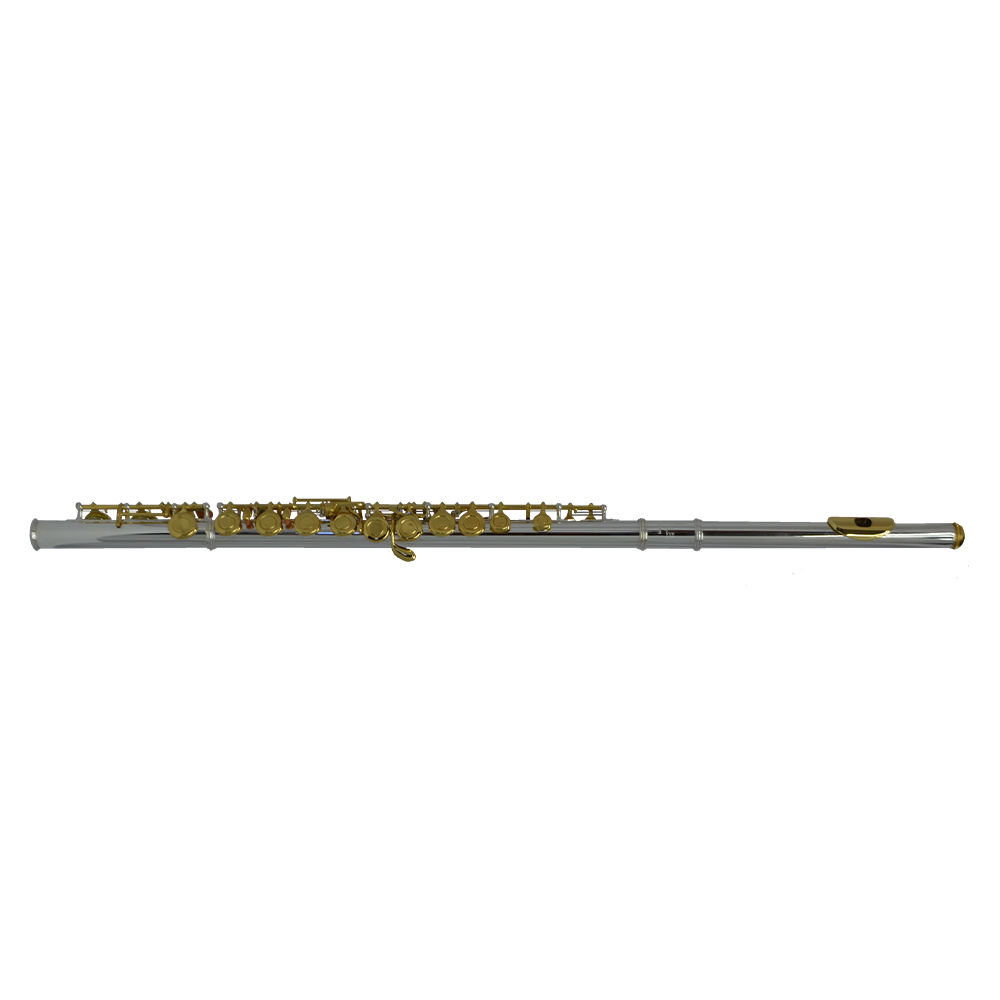 Schiller 200 Series Flute - Silver Plated with Gold Keys
