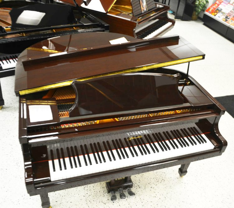 Ritmulller Baby Grand Piano - Mahogany Cherry Polish