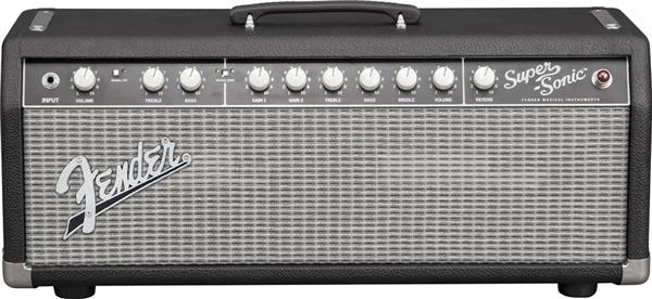 Fender Super-Sonic™ 22 Head - Black and Silver