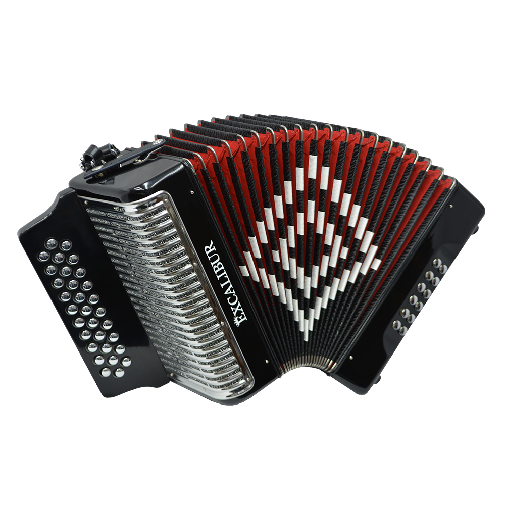 Excalibur Super Classic PSI 3 Row - Button Accordion - Black -  Key of GCF