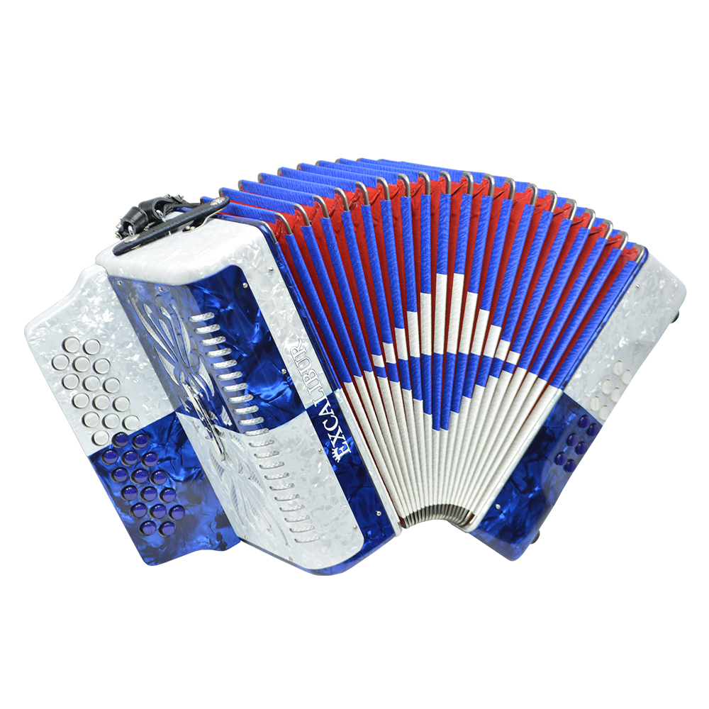 Excalibur Super Classic PSI 3 Row - Button Accordion - Blue/White - Key of GCF