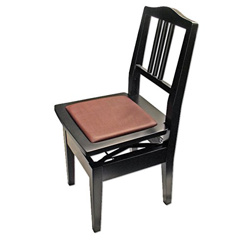 Frederick Adjustable Piano Chair - Ebony Satin