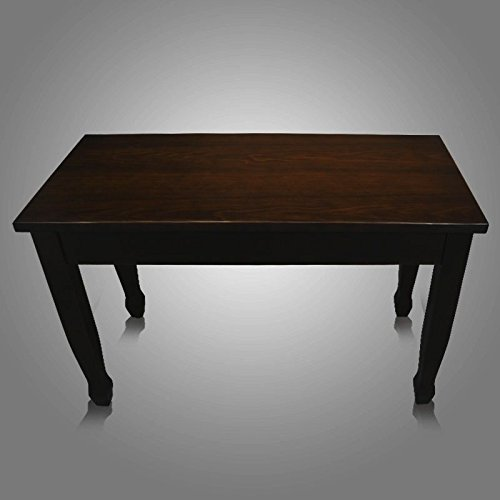 Frederick Walnut Piano Bench - Hard Top w/ Spade Legs