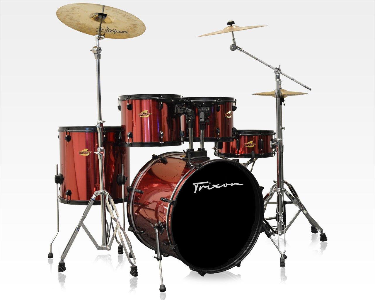 Trixon 2014 5-Piece Birch Kit - Stainless Crimson