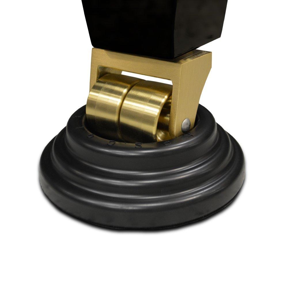 Frederick Premium SBR Rubber Piano Caster Cups / Coasters - Black