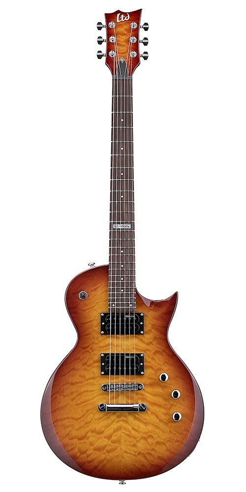 ESP LTD EC-100QM Faded Cherry Sunburst Electric Guitar