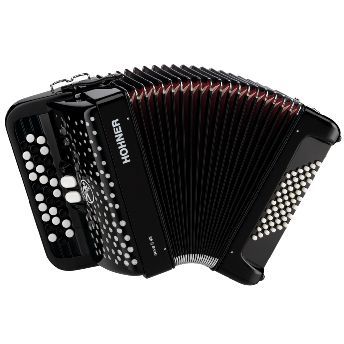 Hohner Nova II 48 Black, C Stepped
