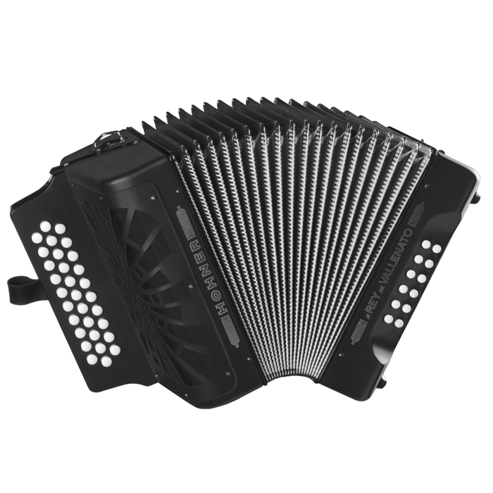 Hohner El Rey del Vallenato BbEbAb, Black with Gig Bag