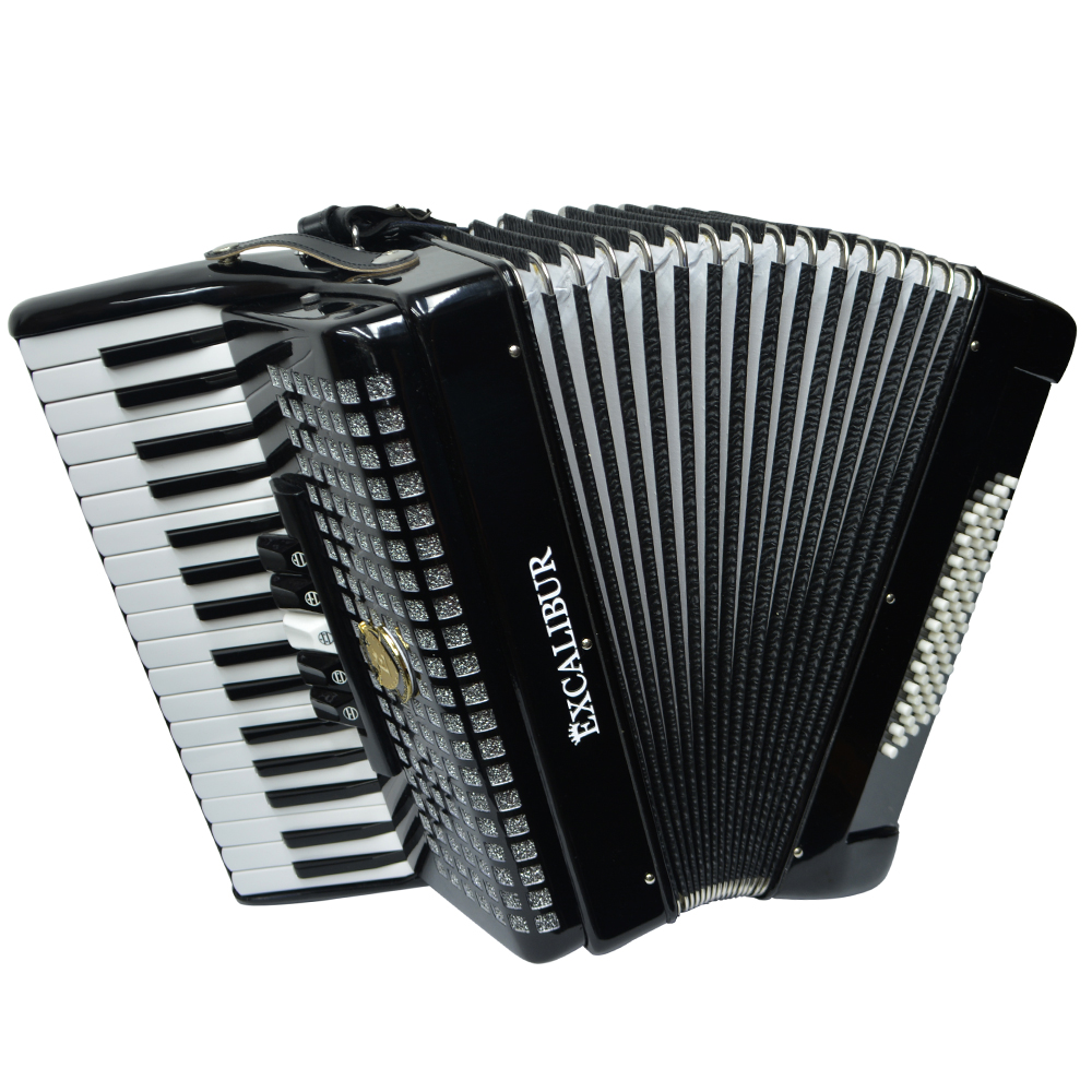 Excalibur Super Classic 60 Bass Piano Accordion - Black