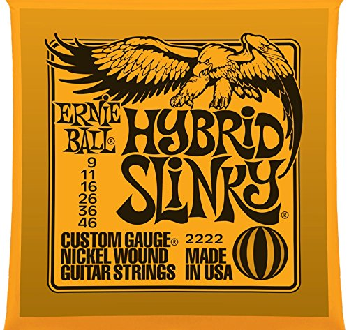 Ernie Ball 2222 Nickel Wound Set, Hybrid Slinky .009 - .046