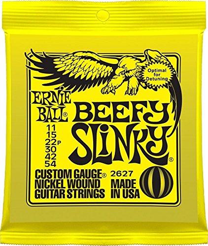 Ernie Ball 2627 Nickel Wound Set, Beefy Slinky .011 - .054
