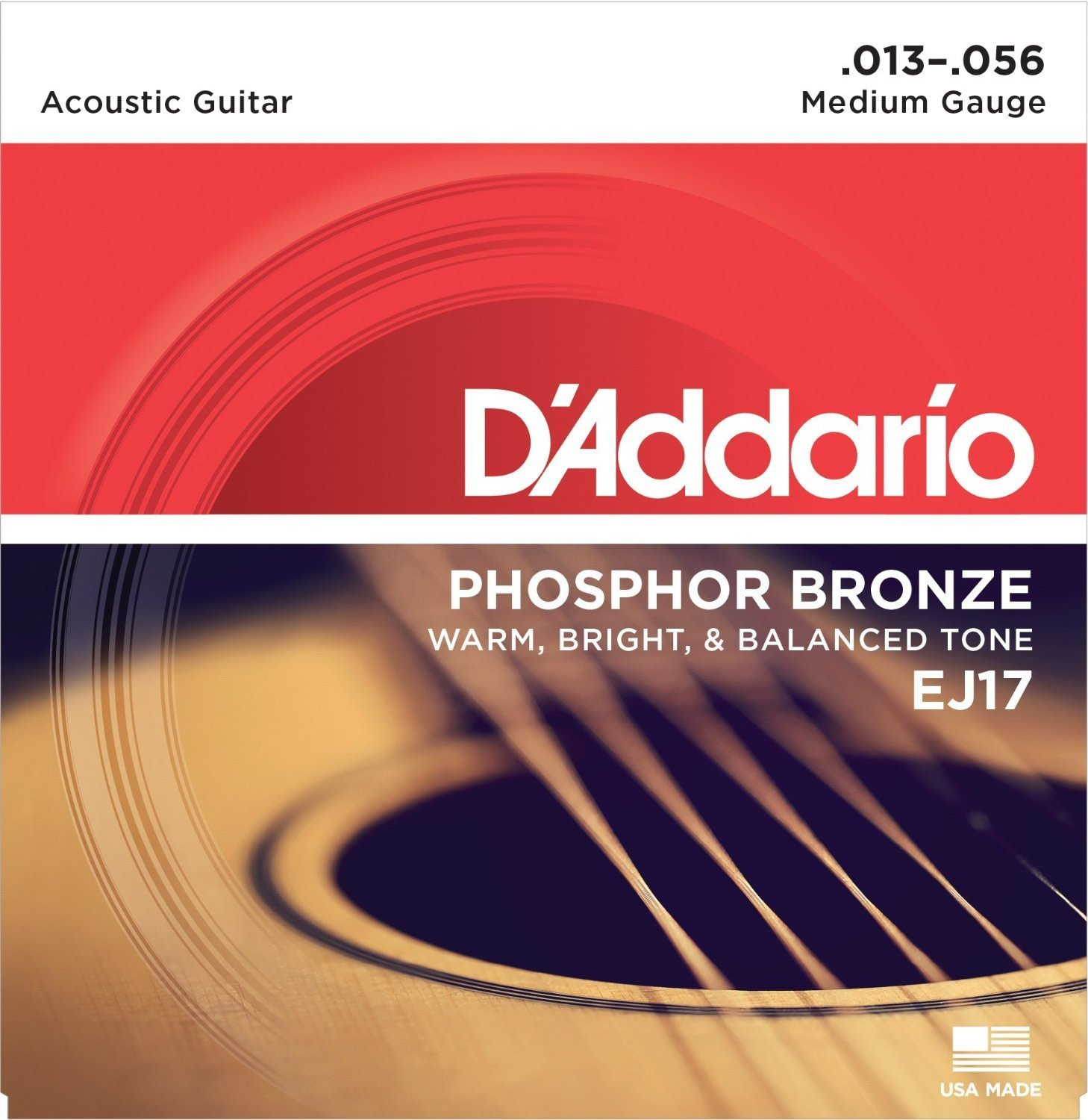 D Addario EJ17 Phosphor Bronze, Medium, 13-56