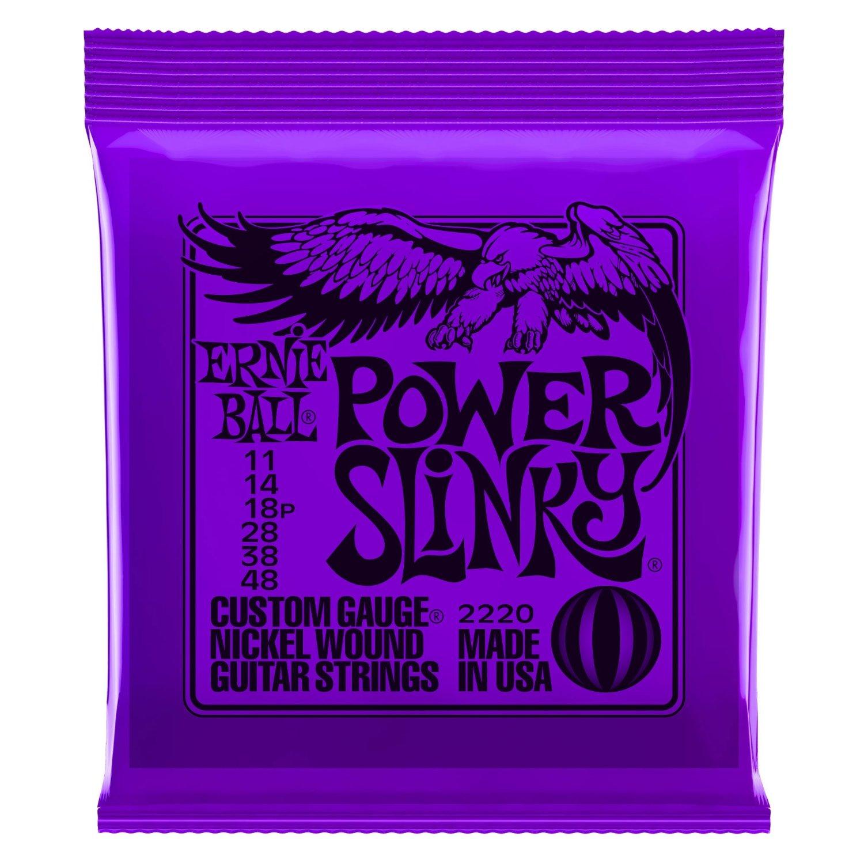 Ernie Ball 2220 Nickel Wound Set, Power Slinky .011 - .048
