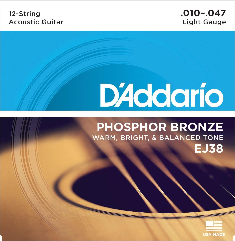 D Addario EJ38 12-String Phosphor Bronze, Light, 10-47