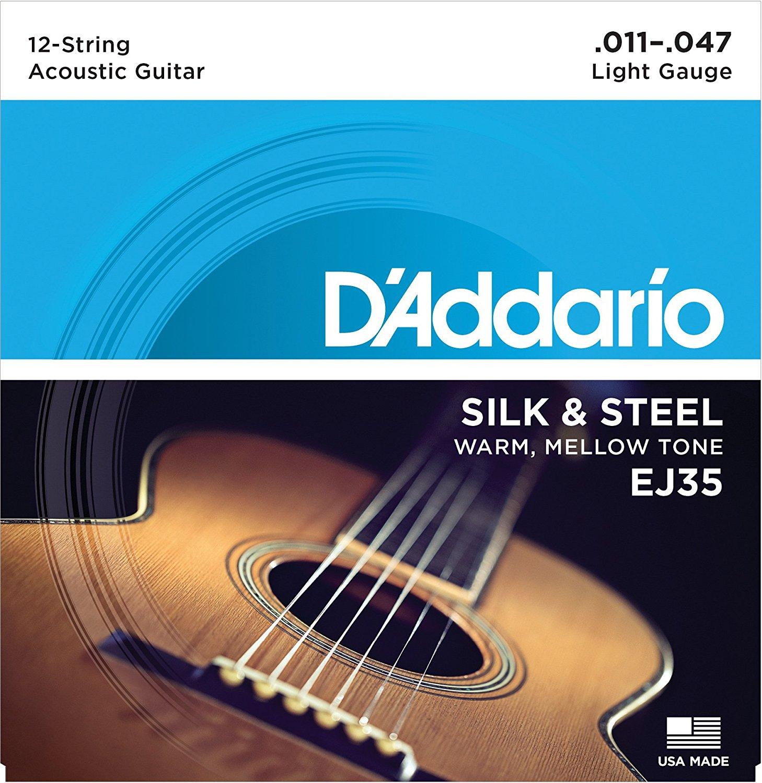D Addario EJ35 Silk & Steel 12-String Folk, 11-47