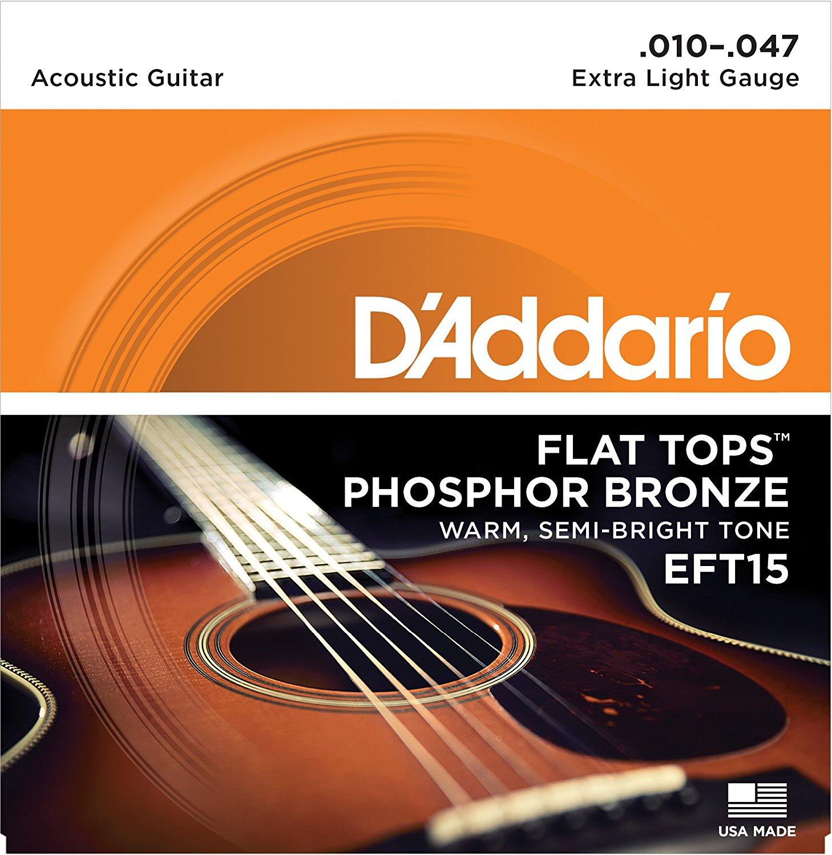 D Addario EFT15 Flat Tops, Extra Light, 10-47