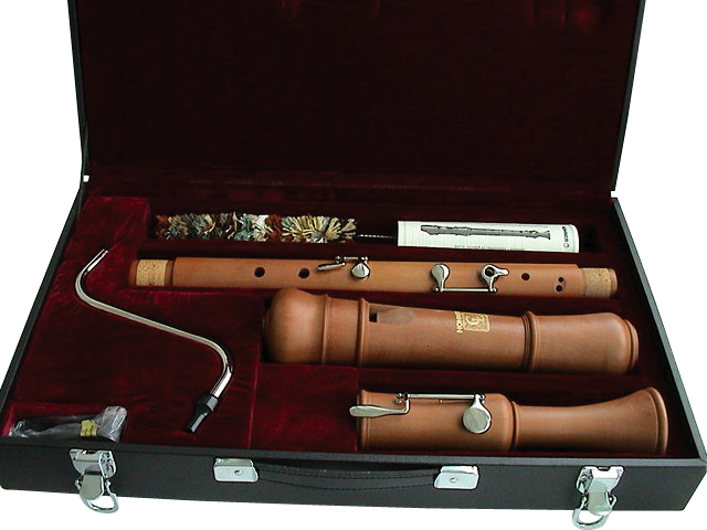 Hohner 9631-3 Concert Pearwood Bass Recorder with Case