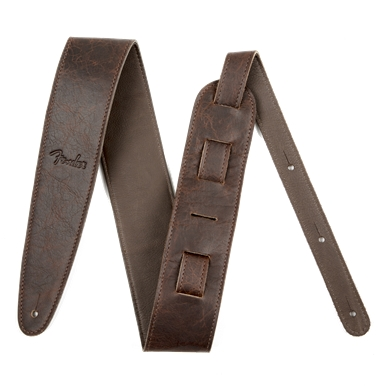 Fender® Artisan Crafted Leather Guitar Strap - Brown - 2.5 Inch