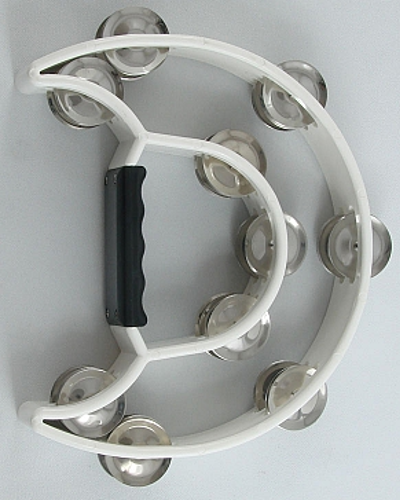 Trixon Professional Moon-Shaped Tambourine - White