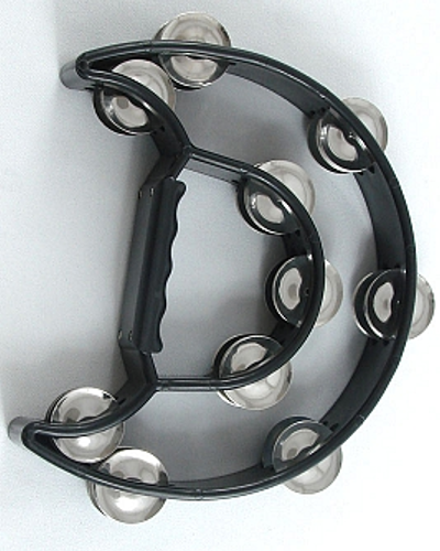 Trixon Professional Moon-Shaped Tambourine - Black