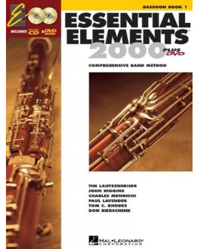 Essential Elements 2000 Bassoon Book CD/DVD
