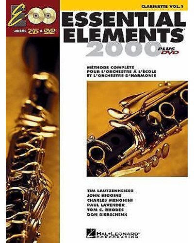 Essential Elements 2000 Clarinet Book CD/DVD