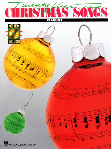 Twenty Five Top Christmas Songs Book and CD for Clarinet